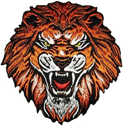 Roaring Tiger Embroidered Iron On Applique Patch