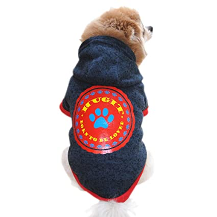 Fossrn Ropa Perro Pequeño Invierno Yorkshire Chihuahua Sudadera con Capucha Abrigo de Ropa para Mascotas -