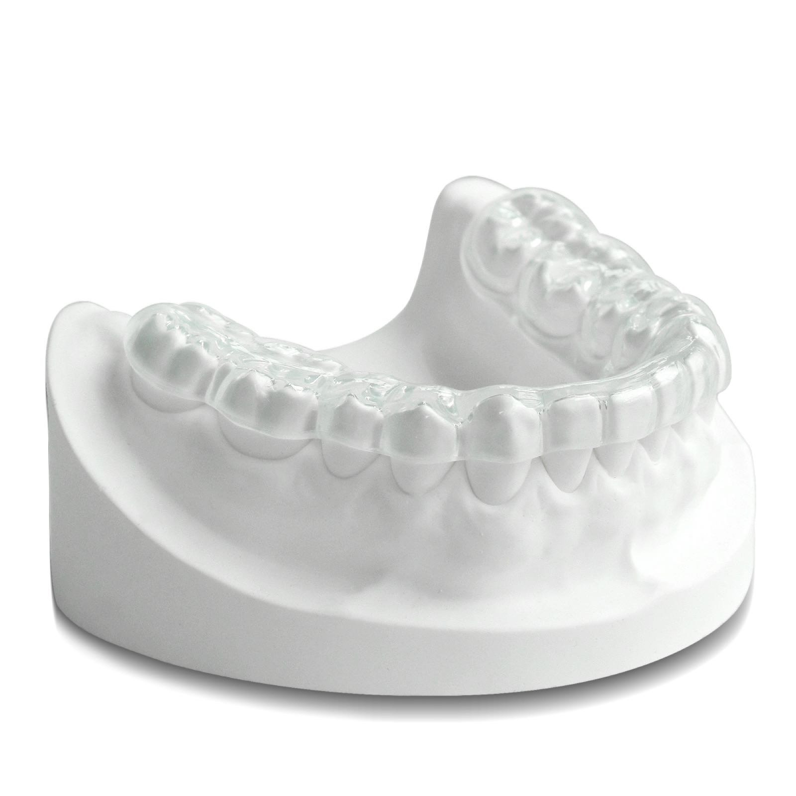 Custom Night Guard Lower - Dental TMJ Mouth Guards for Stop Teeth Grinding Bruxism Clenching with FDA BPA Free, Clear