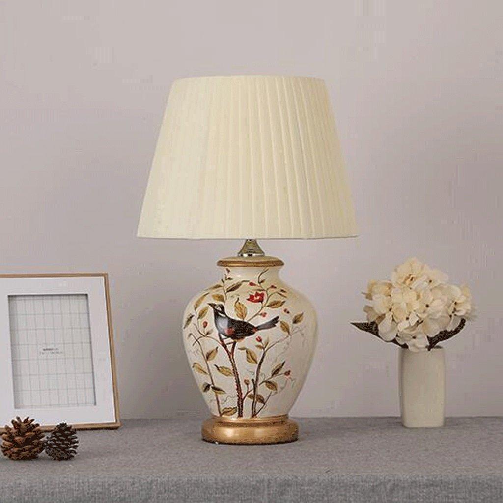 Keramik Tischlampe Große orientalische Keramik Keramik Keramik Tischlampe Retro Keramik Schreibtischlampe Schlafzimmer Nachttisch Lampe Wohnzimmer Studie Lampe E27 A+ (Farbe   Dimming) 0bbe6c