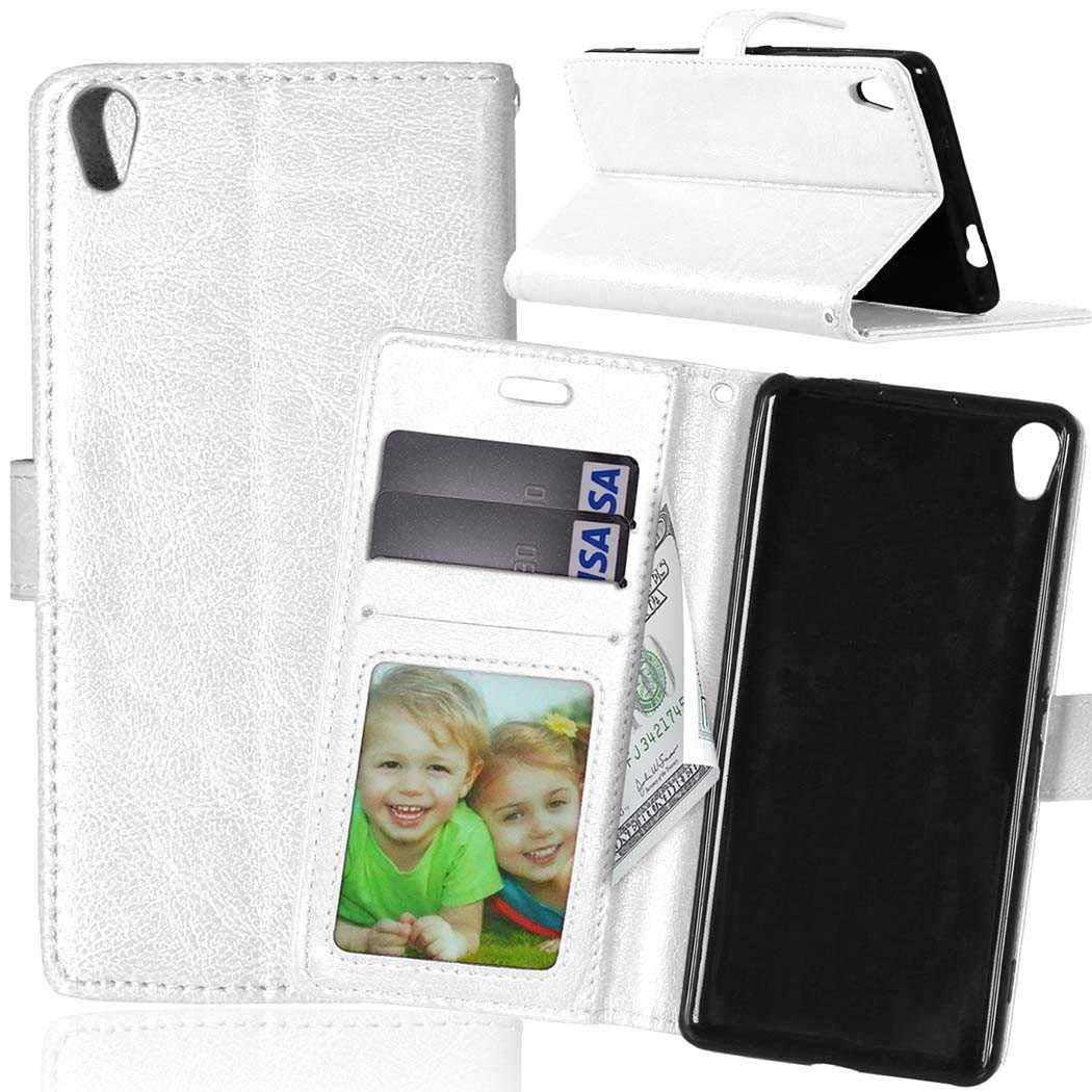 Sony Xperia XA H/ülle Blau CAXPRO/® Handyh/ülle Premium Leder Brieftasche Flip Schutzh/ülle mit Standfunktion und Kartenfach f/ür Sony Xperia XA