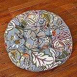 Floral Printed Cotton Linen Floor Pillow Cushion Japanese Round Futon Seat Cushion Zafu Meditation Yoga Bolster Tatami Thicken Chair Window Pad,Anemones 22''x22''(D x D) 55x55cm