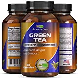 Weight Loss Supplement with Green Tea + EGCg With Polyphenols and Antioxidants – Boosts Metabolism and Burns Fat – Pure Natural Capsules For Men and Women By Biogreen Labs – 500 mg