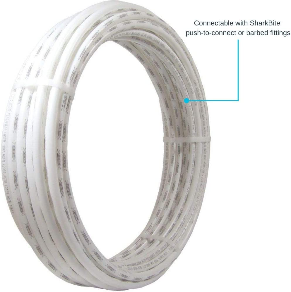 Sharkbite U880w100 Pex Pipe 1 Inch White Flexible Water Pipe Tubing Potable Water Push To Connect Plumbing Fittings 100 Feet Coil Of Piping Pipes Amazon Com
