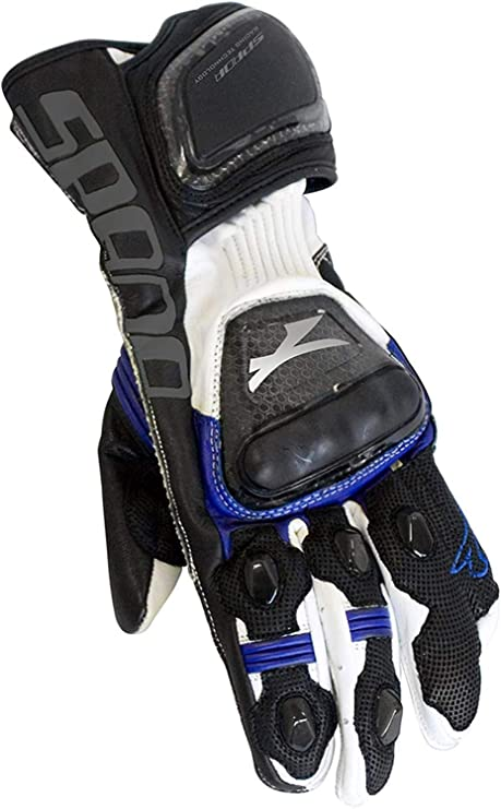 Spada ICE Men/'s Leather Motorcycle Motorbike Stretch Panels Gloves