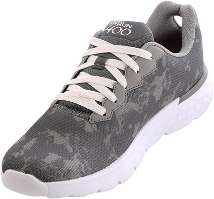 Skechers Go Run 400 - Zapatillas deportivas para mujer, color Gris, talla 38.5 EU: Amazon.es: Zapatos y complementos