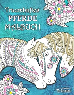 Pferde Pferde Malbuch 25 Fantastische Pferde Zum Ausmalen