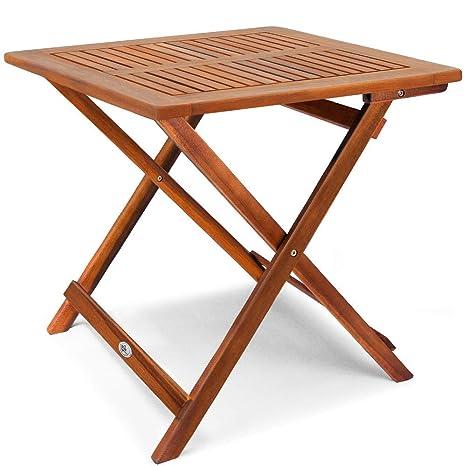 Campingtisch Holz.Deuba Gartentisch Klapptisch Akazie Holz 70 X 70 Cm Klappbar Beistelltisch Holztisch Campingtisch Balkontisch Garten