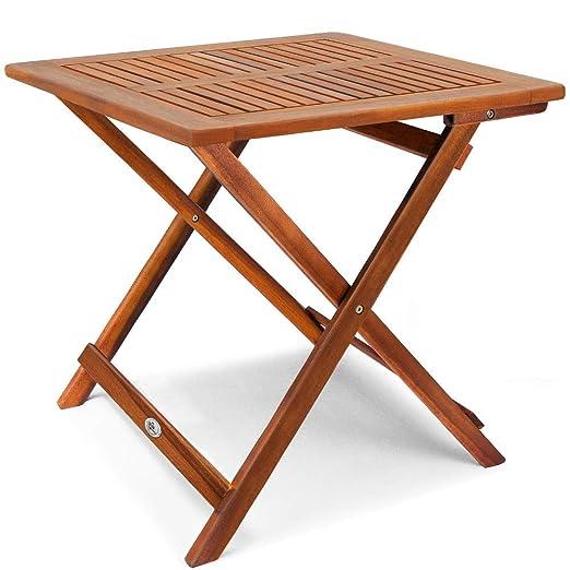 Tavoli Da Giardino Pieghevoli In Legno.Vidaxl Legno Di Acacia Tavolino Da Caffe Da Giardino Pieghevole