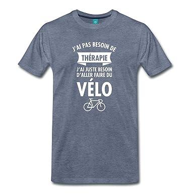 Vélo T Shirt Premium Homme – Orchids In My House 81ea7779d456