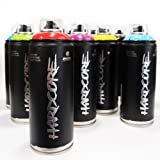 MTN HARDCORE 2 400ml Popular Colors Set of 12 Graffiti Street Art Mural Spray Paint