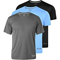 AWG Men's Dryfit Polyester Round Neck Half Sleeve T-Shirts - Value Pack of 3
