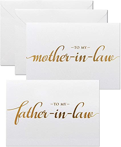 Father-In-Law on My Wedding Day Thank You Wedding Card To My Mother K14 Wedding Card To My Mother Father /& On My Wedding Day Card