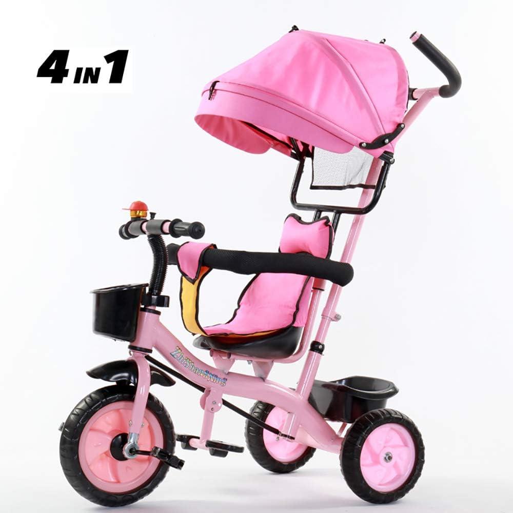 Aocean Triciclos Bebes Evolutivo, Plegable para BebéS a Partir de Los 8 Meses,con Control Parental Desde El Mango Y Ruedas con Banda De Goma Capacidad de Carga 30KG