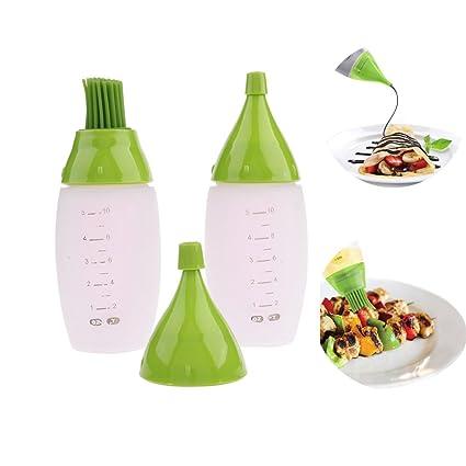 pepeng Creative silicona cepillo de botella jeringa de cocina para barbacoa, uso con aceite,