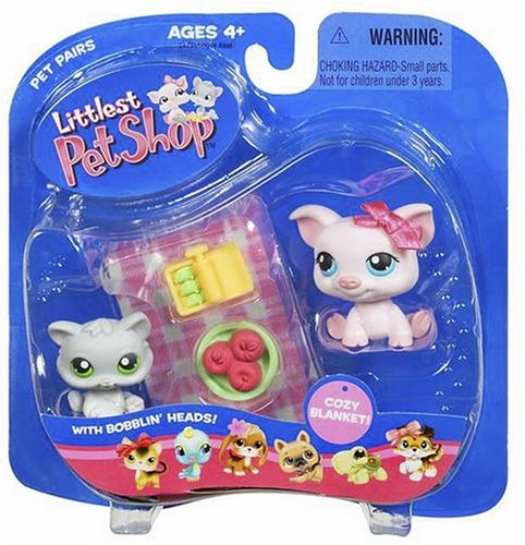 Littlest Pet Shop Pet Pairs Figures Pot Belly Pig & Kitten (Price Pot Pig Belly)