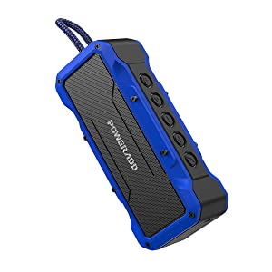POWERADD MusicFly II Bluetooth Speakers, 36W Portable Wireless Bluetooth Speaker IPX7 Waterproof / Enhanced Bass / 24H Playtime / Built-in Mic for iPhone, Samsung and More (Blue)