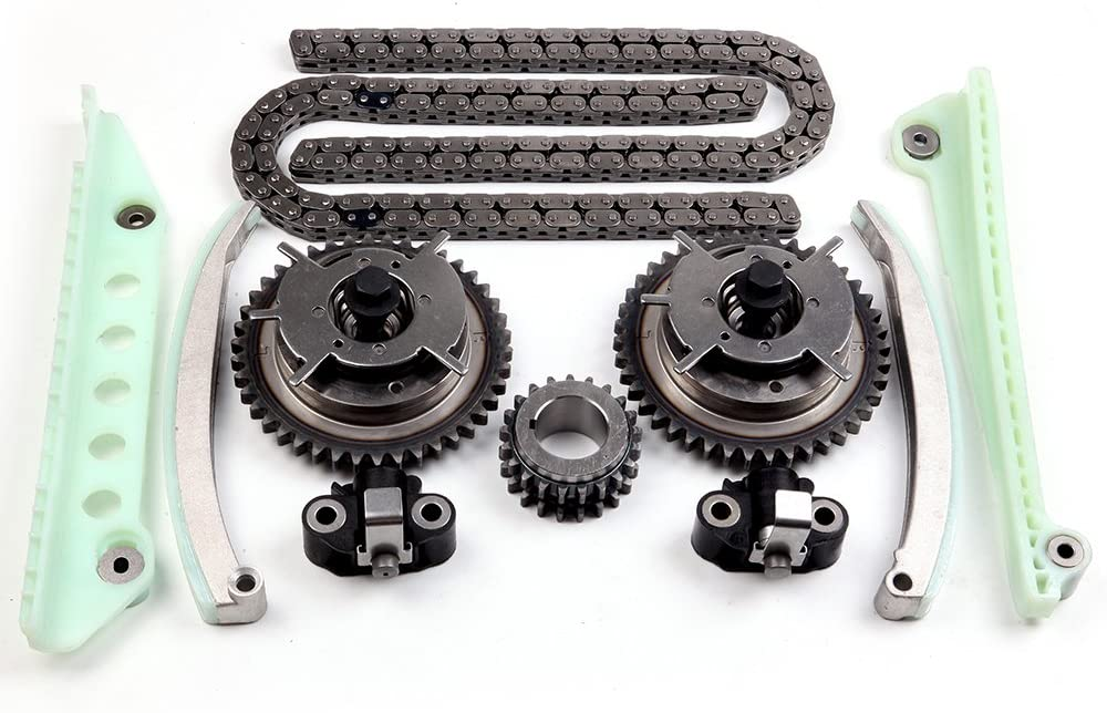 SCITOO Timing Chain Kit fits for 2006-2010 4R3Z-6M256-CC ford Explorer Sport Trac F-150 Mustang 4.6L