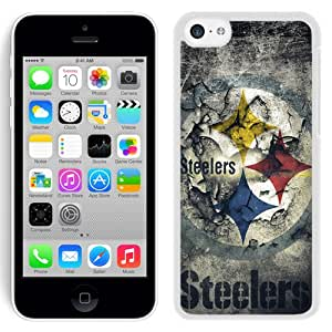 Lovely Iphone 5c Case Design with Pittsburgh Steelers White Phone Case for Iphone 5c Generation