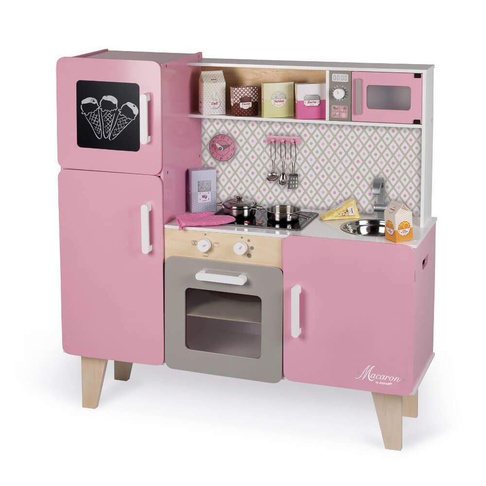 Kinderküche Holz mit Geräuschen - Janod Küche Macaron Maxi