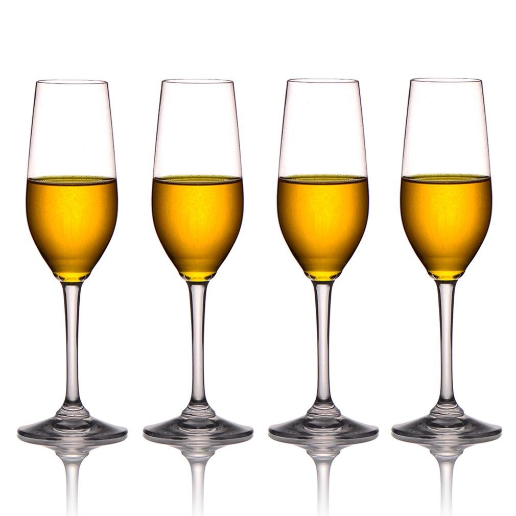 MICHLEY Unbreakable Champagne Flutes Glasses, 100% Tritan Plastic Wine Glasses, BPA-free, Dishwasher-safe 8 oz, Set of 4