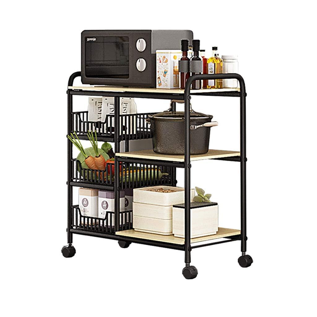 キッチンラック、多目的キッチン用品、床置き多層電子レンジ、収納ラック、居間 (色 : B) B07LCYGKNL B