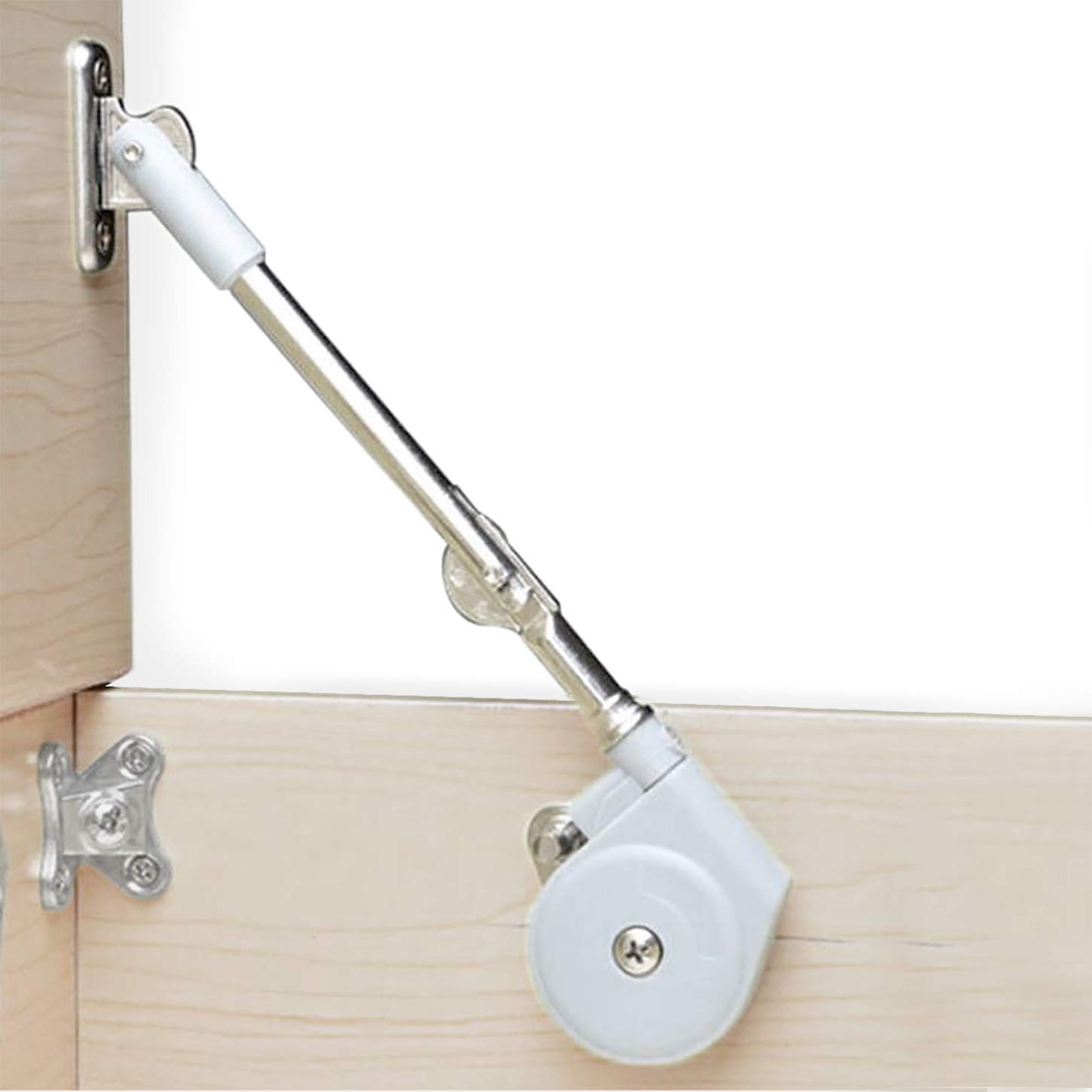 Lid Stay 105 Degree Open with Soft Close, Lid Support for Toy Box and Upward Top-Opening Flap Doors, Easy to Install