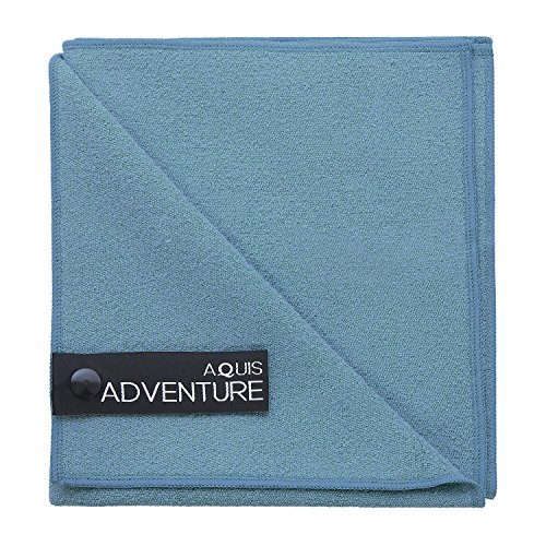 (Aquis - Adventure Microfiber Sports Towel, Quick-Drying Quick-Drying Comfort For Running, Racquet Sports or Golf, Seafoam (Medium/15 x 29 Inches))