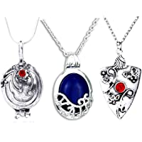 3 Pieces Vampire Diaries Necklaces:Katherine,Damon and Bonnie Pendants Movie Jewelry Cosplay For Women