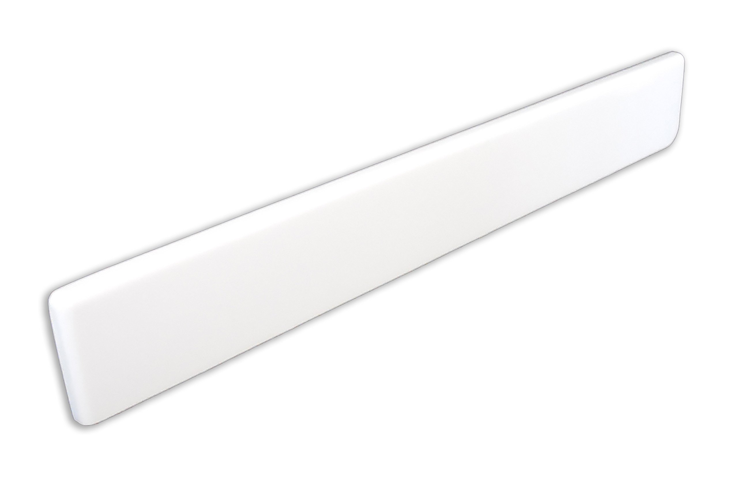 Imperial VL100SPW Left Hand Side Splash for Bathroom Vanity Top, Solid White Gloss Finish, 22-Inch