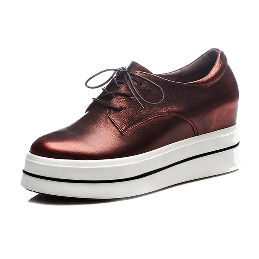 Chaussures Double à Plateformes Femme WSXY-A1413 Chaussures Creepers Baskets Femme Cuir Plateforme Double Semelles,KJJDE red 6c73f59 - deadsea.space