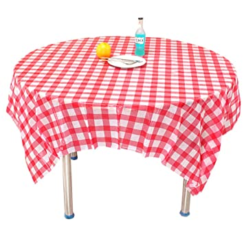 Amazoncom Red Checkered Tablecloth10 Pack Plastic Table Cover