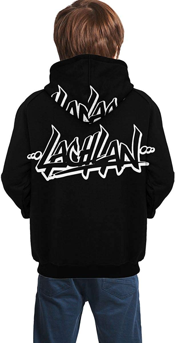 La-chlan YouTube Sweatshirts for Girls Boys Soft Teens Hoodies Plus Velvet Hoody Hooded Sweate Tops with Pockets