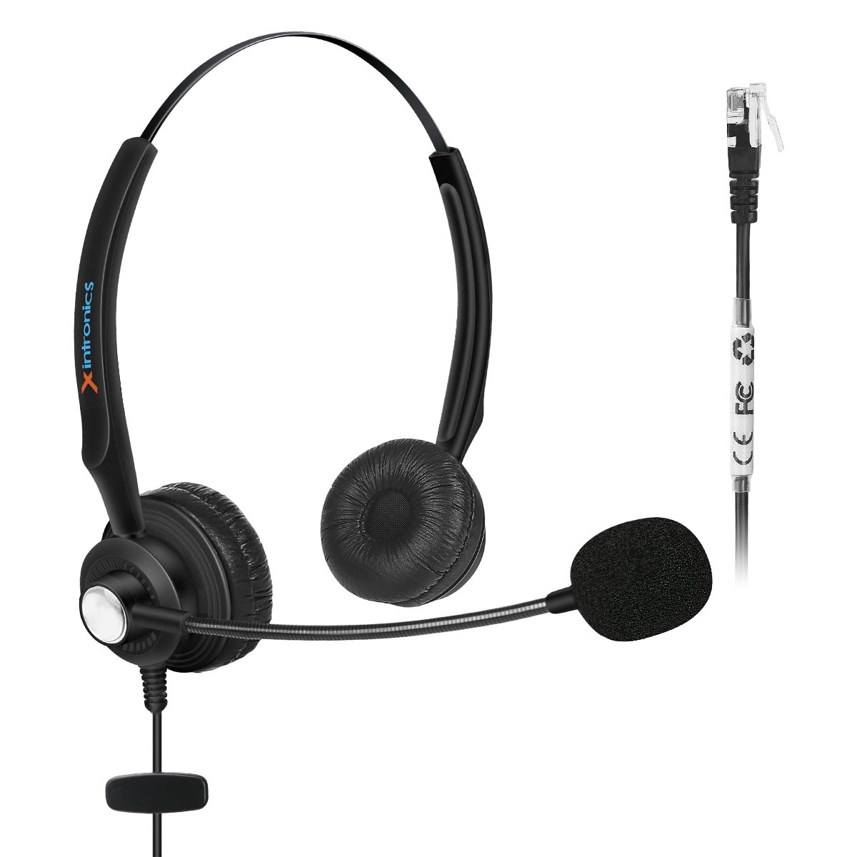 Fivetech Corded Headset w/ Noise Canceling Mic for NEC Aspire Dterm Nortel Norstar Meridian Plantronics Polycom ShoreTel Siemens ROLM Toshiba Zultys Packet8