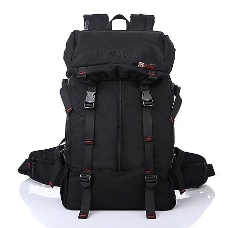 Mochila de Senderismo Negro Senderismo Mochila 50L de gran capacidad de mochila de camping senderismo bolsa