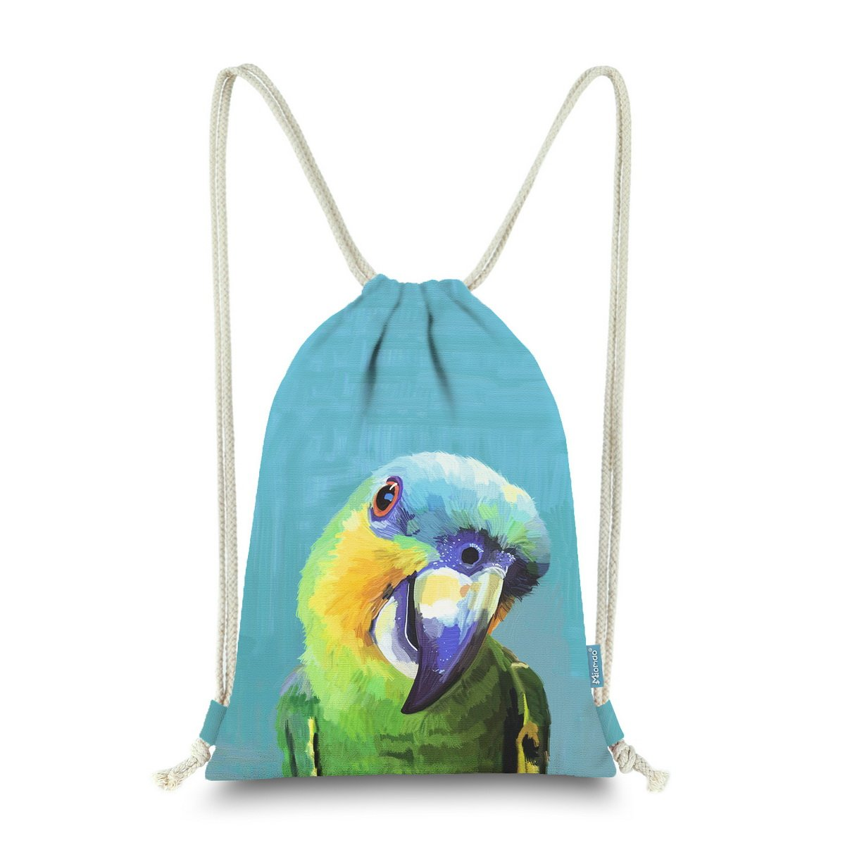 Miomao Drawstring Backpack Cute Parrot String Bag Bird Cinch Sack Animal Sinch Sack Sport Gym Sack Pack For Girl Boy Teen Kids 13 X 18 Inches Buffon's Macaw
