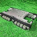 TS500 重負荷 タンクトラック サスペンションシステム アルミ合金シャーシインテリジェンスRCトラックシャーシ衝撃吸収キャタピラ (銀)