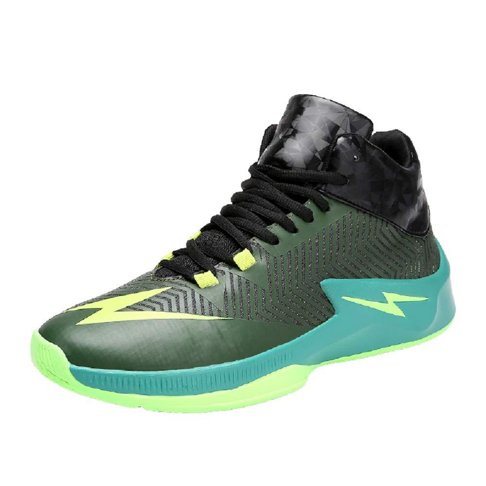 SHANGWU Männer Anti-Herbst Basketball Schuhe Studenten Leichte Dämpfung Persönlichkeit Hohe Stiefel Anti-Rutsch-Large Größe Combat Casual Laufschuhe