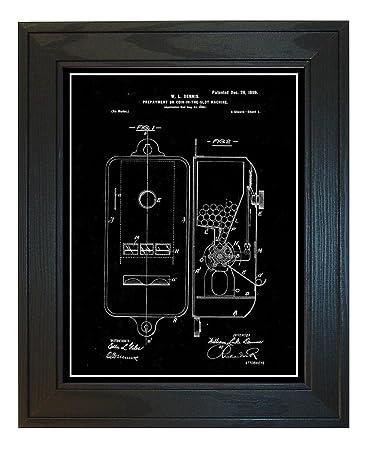 Amazon Gumball Machine Patent Art Black Matte Print With A