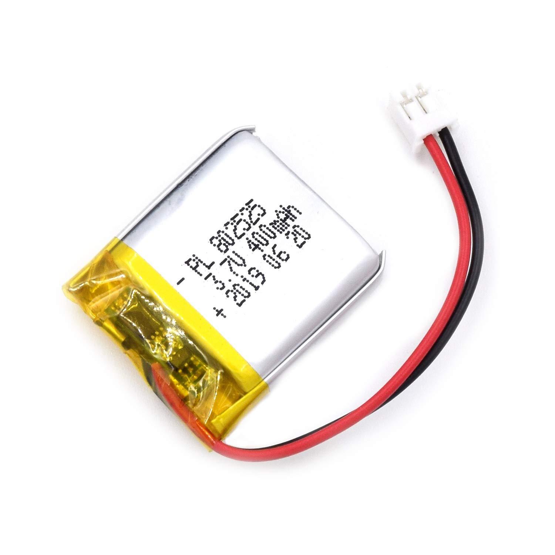Bateria Lipo 3.7v 400mah 802525 Recargable Jst Conector