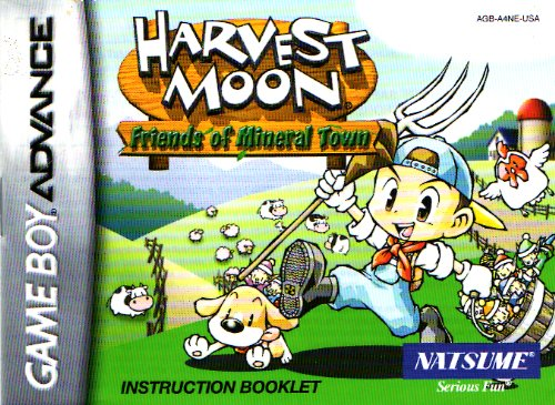 Harvest Moon - Friends of Mineral Town GBA Instruction Booklet (Nintendo Gameboy Advance Manual ONLY - NO GAME) Pamphlet - NO GAME INCLUDED