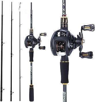 Baitcasting Spinning Fishing Rod Reel Combo - Juego cañas Pescar ...
