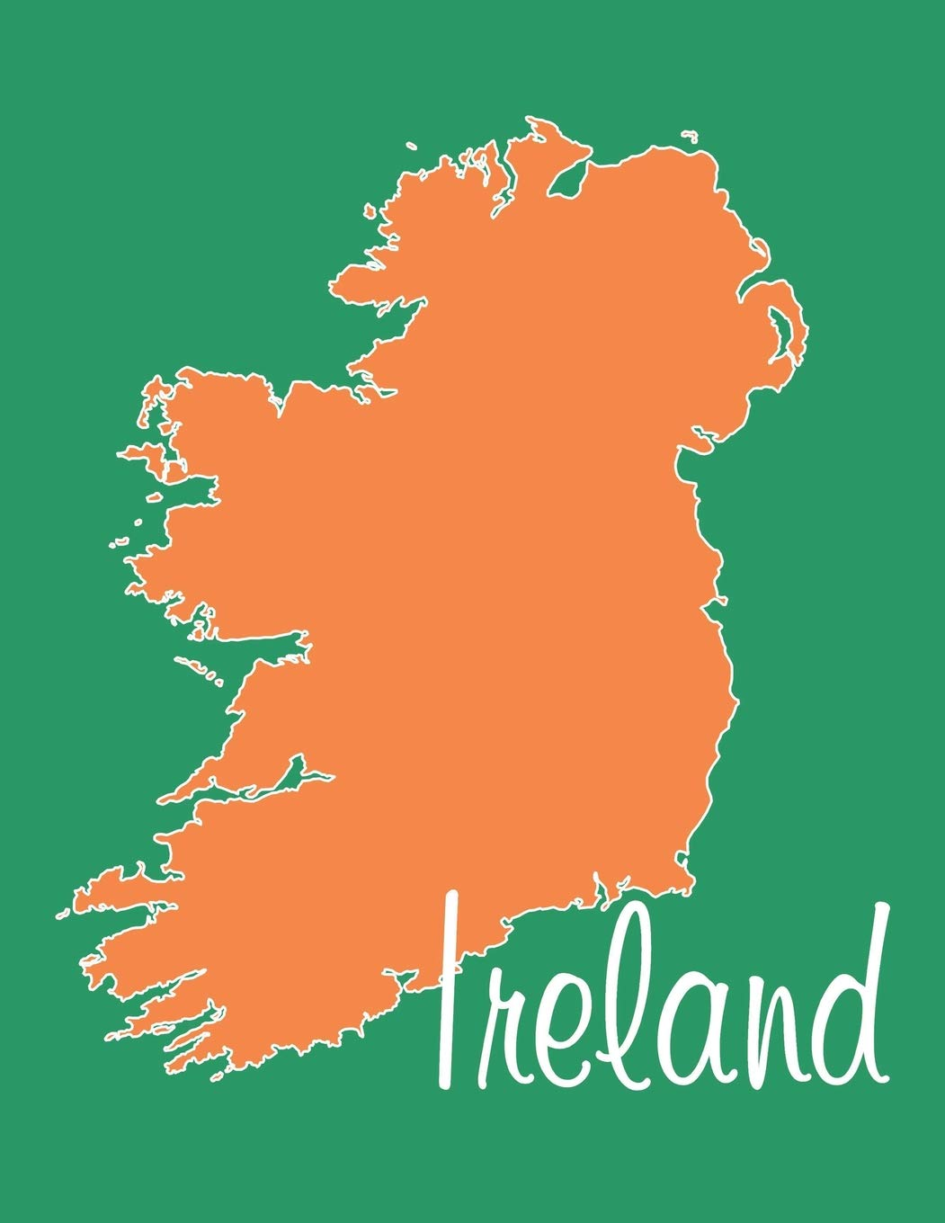 Download Ireland - National Colors 101 - Lined Notebook with Margins - 8.5X11: 101 Pages, 8.5 x 11, Medium Ruled, Journal, Soft Cover PDF