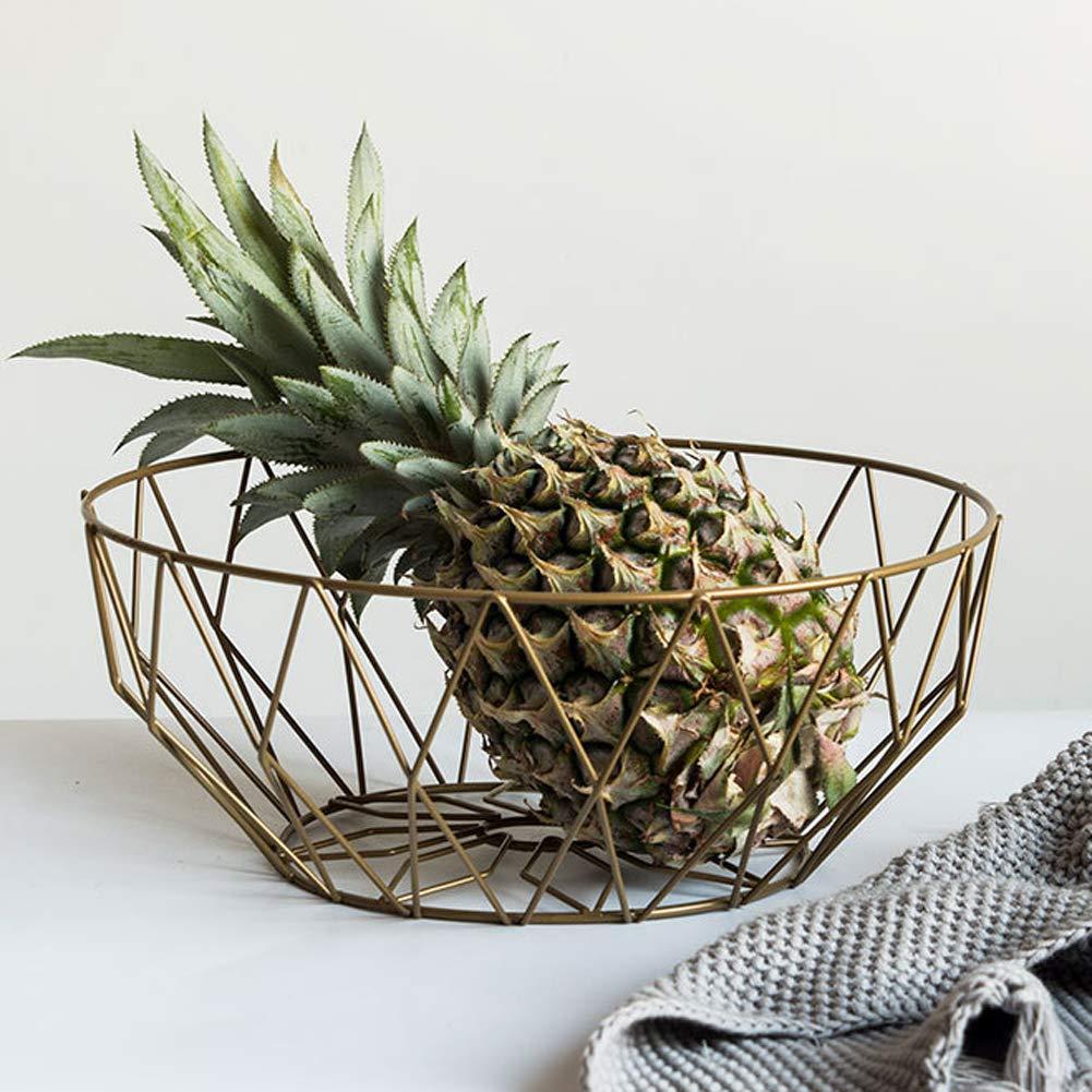 BESTEU Fruit Bowl Diversified Contempo Small Fruit Bowl Fruit Storage Basket Metal Fruit Basket