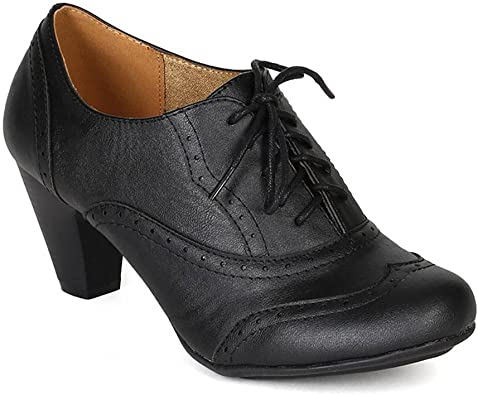 women's leather oxford lace up shoes