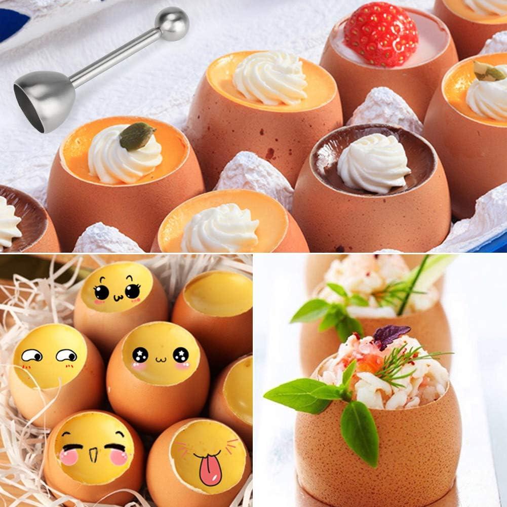 Eier/öffner f/ür Zuhause K/üche E-More Eier/öffner Edelstahl Spring Egg Topper Eierschalen-Separator Eierschalenschneider Hart und Weich Gekochte Eier Eier/öffner Eier Cutter