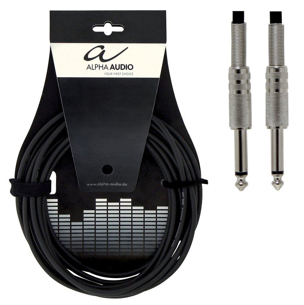 Alpha Audio 190000 Basic Line Instrumentenkabel (3m, Monoklinke ...
