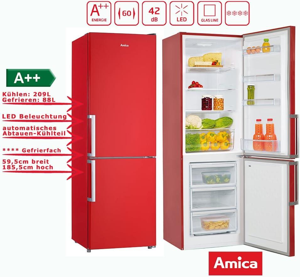 Amica KGC 15910 fr nevera y congelador Combinación Fuego Rojo A + ...