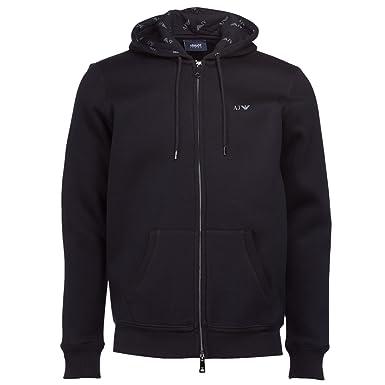Armani Jeans Fleece Lined Zip Through Hoody Black XXL