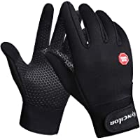KYNCILOR Winter Gloves for Mountain Bike Non-Slip Silicone Warm Gloves, Touch Screen Bike Accessories, Splash-Proof for…